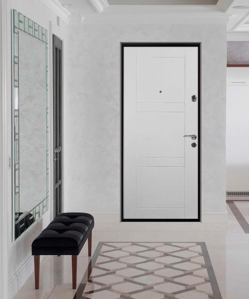 фьеро мидл входная дверь стальная линия steellak белый