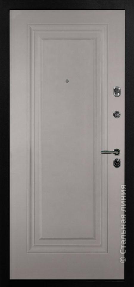 серая входная дверь Флорентина стальная линия белорусские двери отделка steellak платиновый серый рисунок KF-03