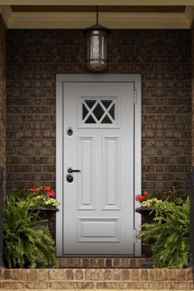 окно К для входных дверей стальная линия