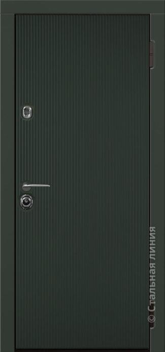 ланкастер входная дверь стальная линия для квартиры с вертикальными полосками рисунок CL1-04