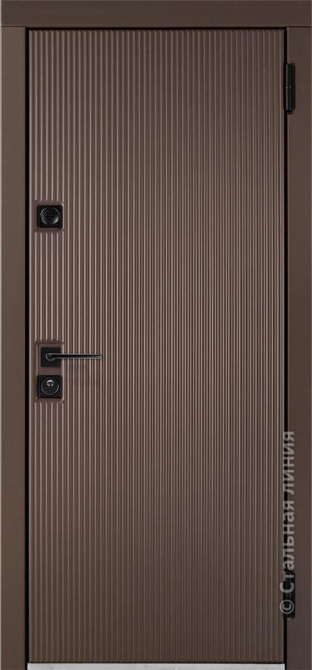 ланкастер лайт входная дверь стальная линия для квартиры с вертикальными полосками рисунок CL1-04