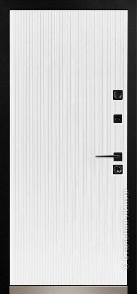 ланкастер мидл входная дверь стальная линия для квартиры с вертикальными полосками рисунок CL1-04
