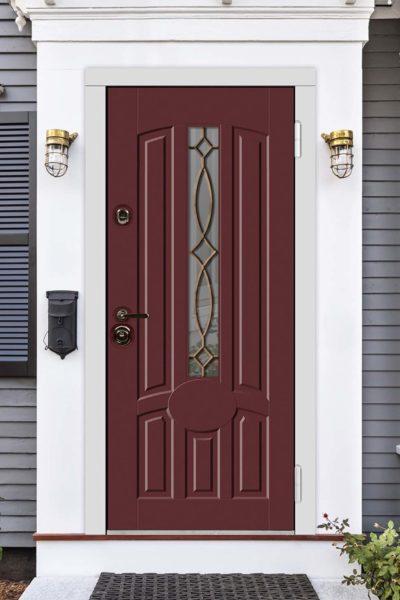окно М для уличных входных дверей стальная линия