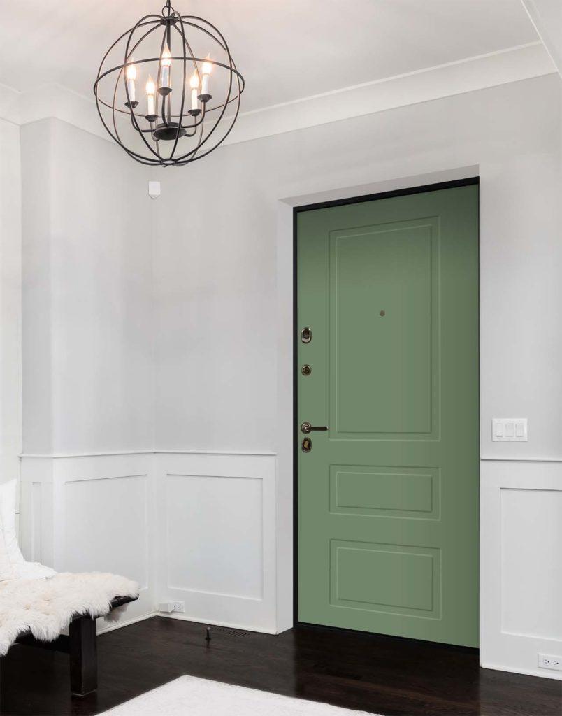 входная дверь лиссабон коллекция неоклассика стальная линия зелёная входная дверь NL-04