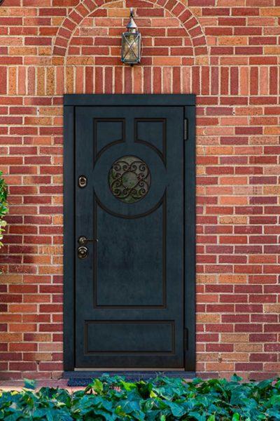 окно О для дверей в коттедж стальная линия