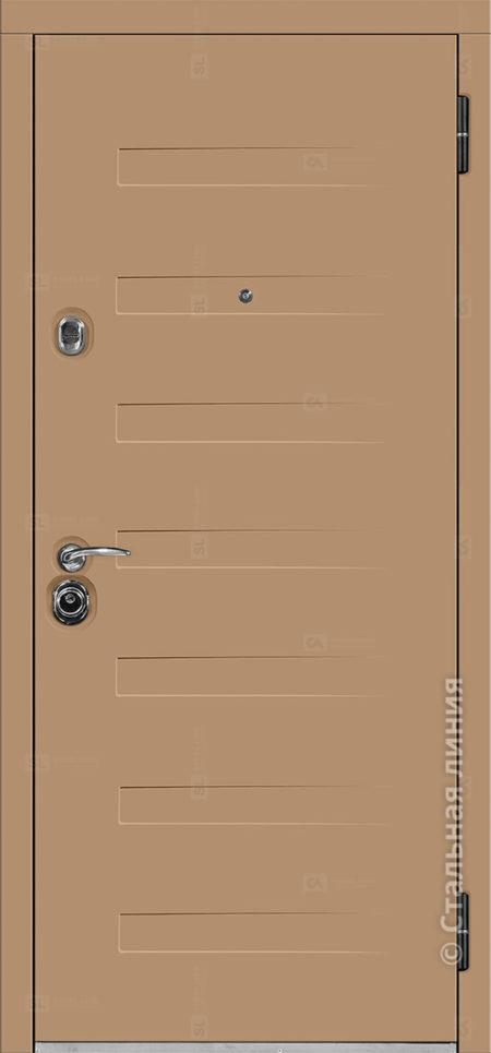 пиано мидл входная уличная дверь с терморазрывом стальная линия отделка steellak капучино рисунок пиано