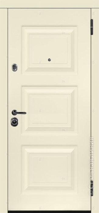 Римини входная дверь в коттедж с терморазрывом стальная линия отделка steellak слоновая кость рисунок П-33