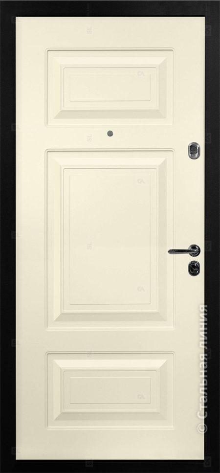 Римини входная дверь в коттедж с терморазрывом стальная линия отделка steellak слоновая кость рисунок П-35