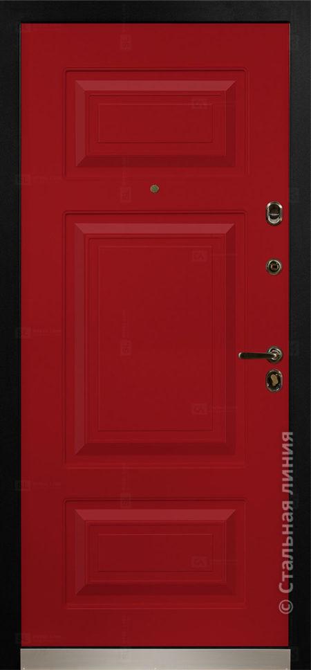 Римини мидл красная входная дверь в коттедж с терморазрывом стальная линия отделка steellak рисунок П-35