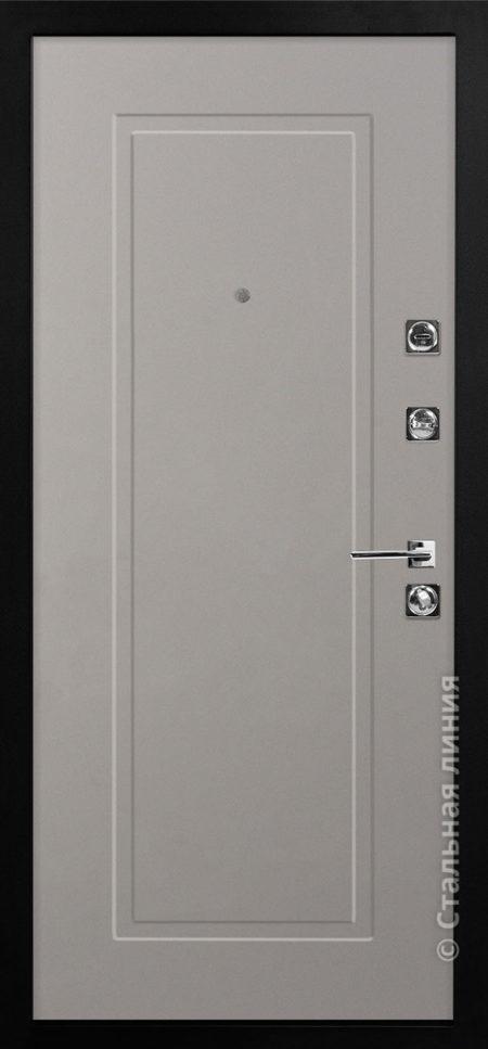 сантана мидл серая входная дверь стальная линия белоруссия неоклассика отделка SteelLak платиновый серый рисунок NL-06