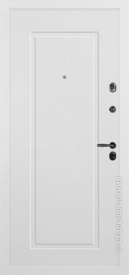 сантана белая входная дверь стальная линия белоруссия неоклассика отделка SteelLak белый рисунок NL-06