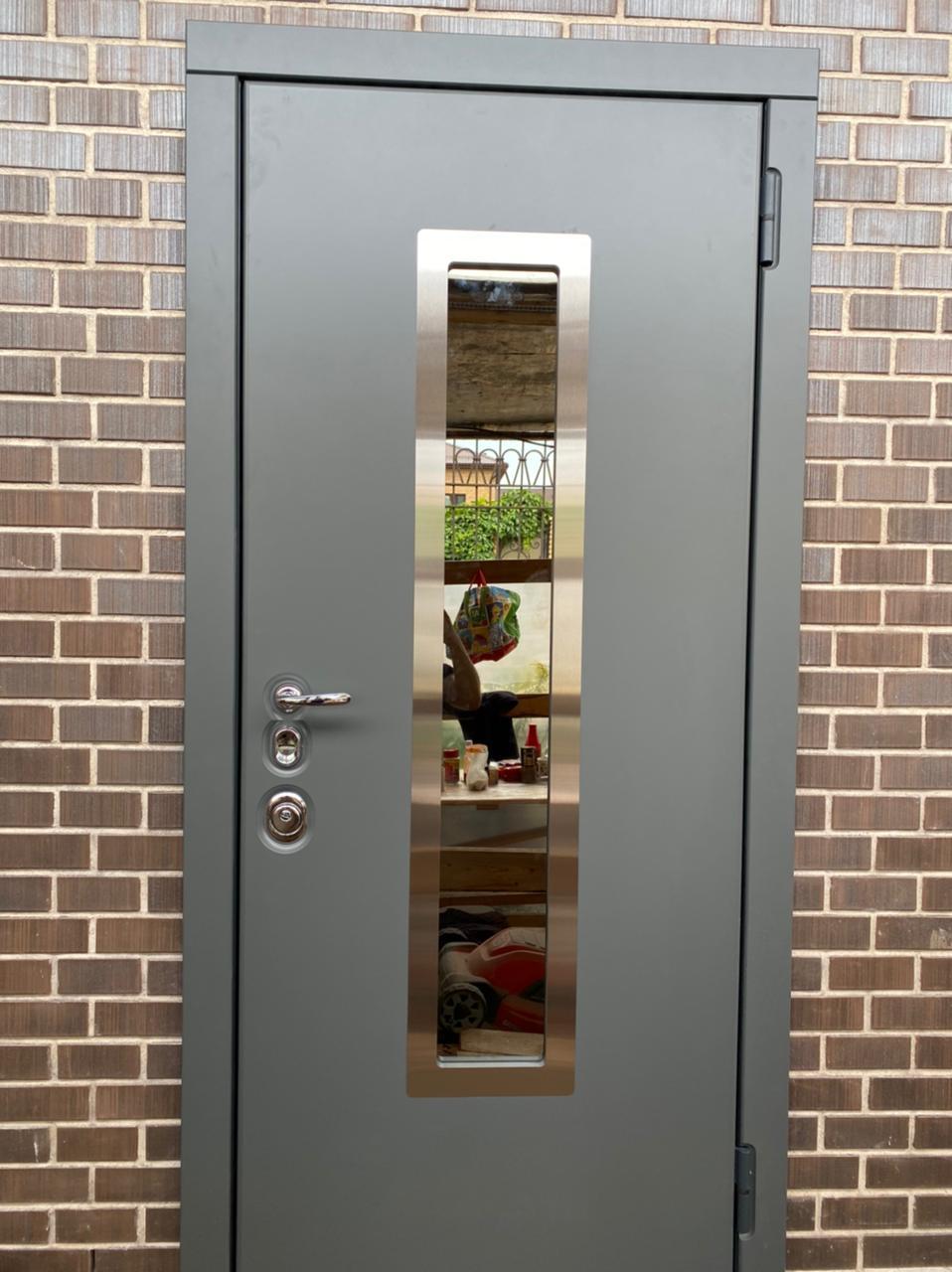 стальная линия бремен steellak серый графит ral 7043 рисунок О-С окно С стеклопакет зеркально-тонированный рамка из нержавеющей стали