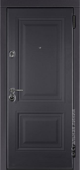 сиенна входная дверь стальная линия отделка steellak антрацит рисунок KF-02