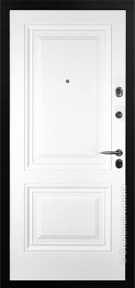 сиенна входная дверь стальная линия отделка steellak белый рисунок KF-02