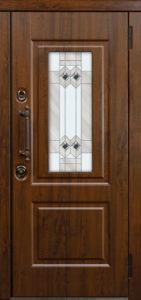 Витраж А для окна Б входных дверей стальная линия