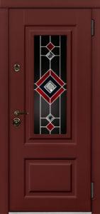 Окно Б с витражом Б для уличных входных дверей стальная линия
