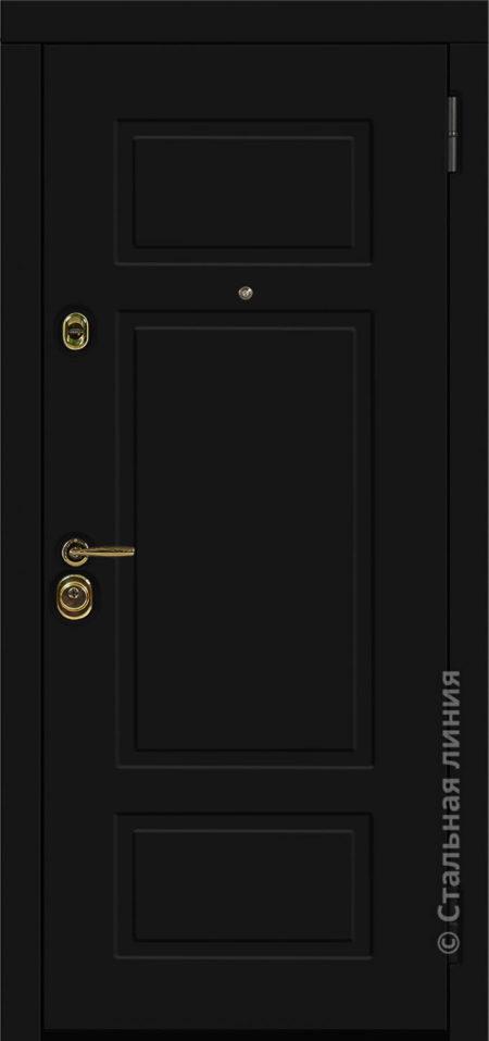 Виво чёрная входная дверь стальная линия отделка steellak Чёрный рисунок NL-07