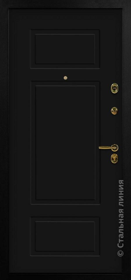 Виво лайт чёрная входная дверь стальная линия отделка steellak Чёрный рисунок NL-07